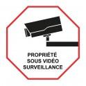 Autocollant propriété sous vidéo surveillance logo9 alarme