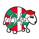 mouton 64 basque autocollant voiture stickers