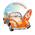 Car beetle surf flower logo2 adhesive sticker