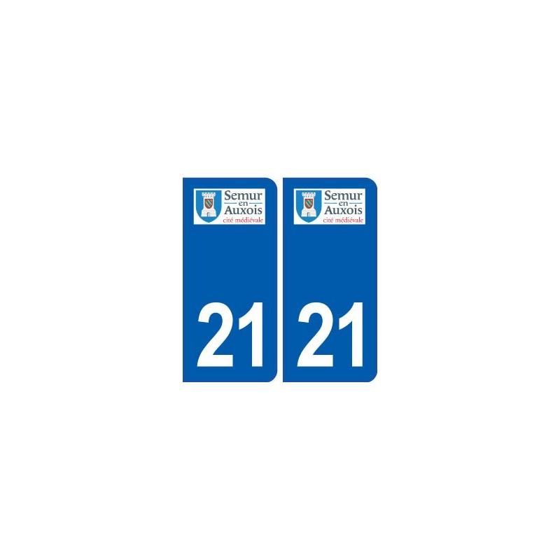 semur en auxois logo ville 21 autocollant plaque immatriculation d partement. Black Bedroom Furniture Sets. Home Design Ideas