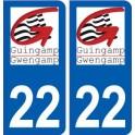 22 Guingamp logo city sticker, plate sticker