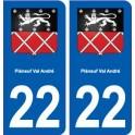 22 Pléneuf-Val-André blason ville autocollant plaque sticker