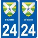 24 Boulazac blason autocollant plaque stickers département