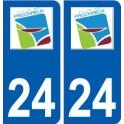 24 Prigonrieux logo autocollant plaque stickers département