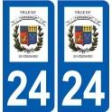24 Terrasson-Lavilledieu logo autocollant plaque stickers département