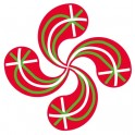 Sticker, the Basque Cross Lauburu flag adhesive sticker