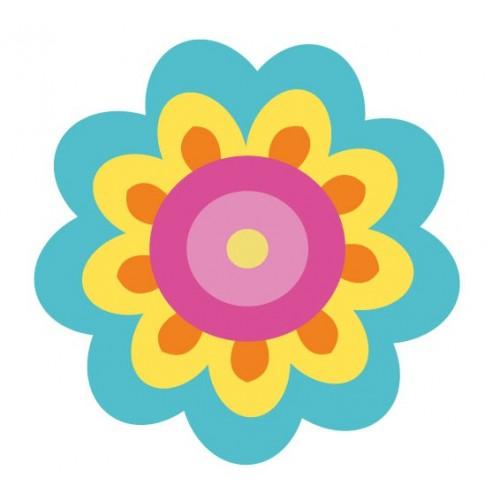 Autocollant Fleur Hippie Autocollant Sticker Adhesif