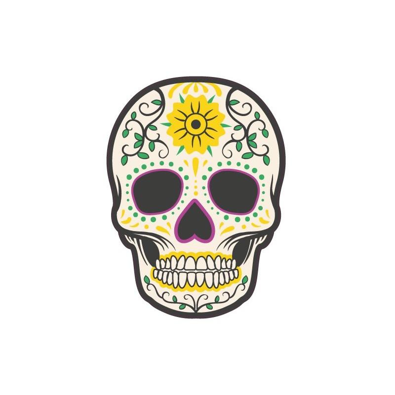 autocollant t te de mort muerta 13 skull stickers adhesif. Black Bedroom Furniture Sets. Home Design Ideas