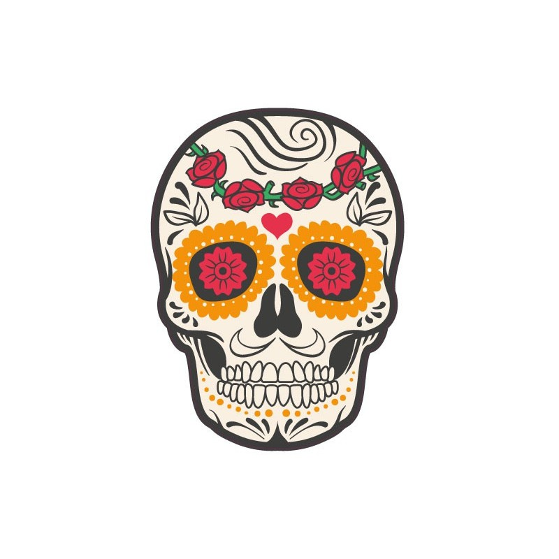 autocollant t te de mort muerta 14 skull stickers adhesif. Black Bedroom Furniture Sets. Home Design Ideas