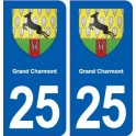 25 Grand-Charmont blason autocollant plaque stickers