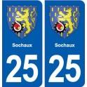 25 Sochaux blason autocollant plaque stickers