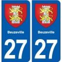 27 Beuzeville blason autocollant plaque stickers ville