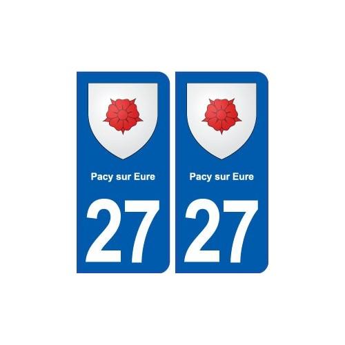 27 pacy sur eure blason autocollant plaque immatriculation stickers ville. Black Bedroom Furniture Sets. Home Design Ideas