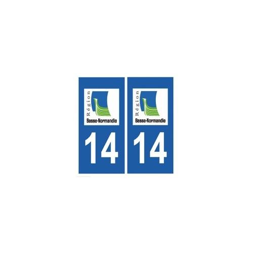 14 Calvados autocollant plaque