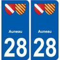 28 Auneau blason stickers ville
