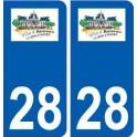 28 Auneau logo stickers ville