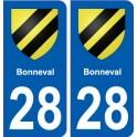 28 Bonneval blason stickers ville