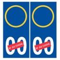 Plaque d'immatriculation Stickers 00 Italie numéro au choix