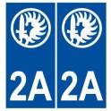 Autocollant Légion étrangère calvi 2A plaque immatriculation stickers