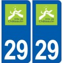 29 Châteaulin logo autocollant plaque stickers ville