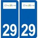 29 Crozon logo autocollant plaque stickers ville
