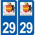 29 Gouesnou logo autocollant plaque stickers ville
