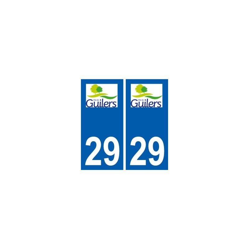 29 guilers logo autocollant plaque immatriculation. Black Bedroom Furniture Sets. Home Design Ideas
