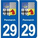 29 Penmarch blason autocollant plaque stickers ville