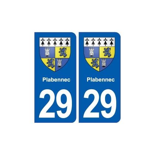 29 Plabennec blason autocollant plaque stickers ville