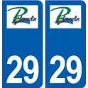 29 Plomelin logo autocollant plaque stickers ville