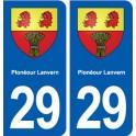29 Plonéour Lanvern coat of arms sticker plate stickers city