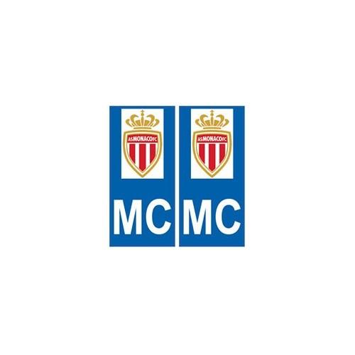 AS Monaco foot autocollant plaque