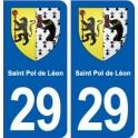 29 Saint Pol de Léon blason autocollant plaque stickers ville