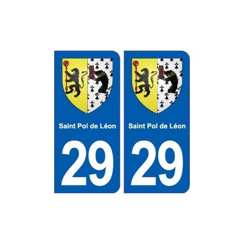 29 saint pol de l on blason autocollant plaque for Piscine st pol de leon