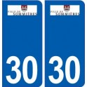 30 Sommières logo city sticker, plate sticker