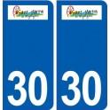 30 Saint-Martin-de-Valgalgues logo city sticker, plate sticker
