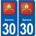 30 Park crest city sticker, plate sticker