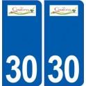 30 Garons logo ville autocollant plaque stickers