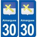 30 Aimargues blason ville autocollant plaque stickers