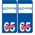 Ski france alpes Chamonix autocollant plaque sticker département au choix