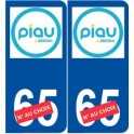 Ski france pyrenees piau engaly sticker plate sticker department choice