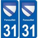 31 Fenouillet blason ville autocollant plaque stickers