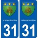 31 La Salvetat-Saint-Gilles blason ville autocollant plaque stickers