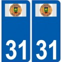 31 La Salvetat-Saint-Gilles logo ville autocollant plaque stickers
