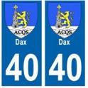 40 Dax ville autocollant plaque