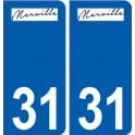 31 Merville logo city sticker, plate sticker