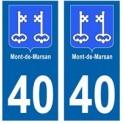 40 Mont de Marsan ville autocollant plaque
