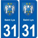 31 Saint-Lys coat of arms, city sticker, plate sticker