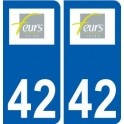 42 Feurs logo ville autocollant plaque stickers