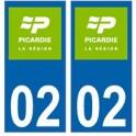 02 Aisne Picardie nouveau logo autocollant plaque
